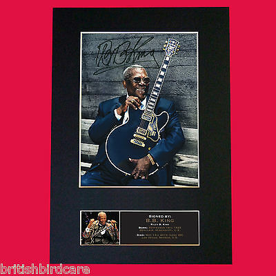 BB KING Signed Reproduction Autograph Mounted Photo Print A4 565 • 5.99£
