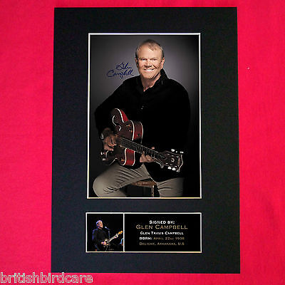 GLEN CAMPBELL Signed Reproduction Autograph Mounted Photo Print A4 279 • 18.99£