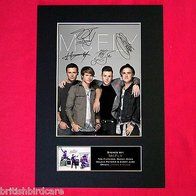 MCFLY Signed Reproduction Autograph Mounted Photo Print A4 303 • 6.99£