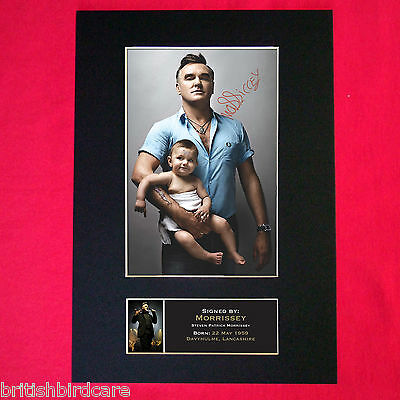 MORRISSEY Signed Reproduction Autograph Mounted Photo Print A4 164 • 5.99£