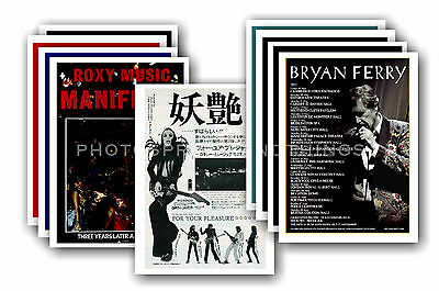 ROXY MUSIC / BRYAN FERRY  - 10 Promotional Posters  Collectable Postcard Set # 1 • 5.99£