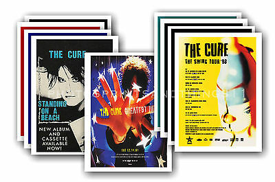 THE CURE  - 10 Promotional Posters - Collectable Postcard Set # 2 • 5.99£