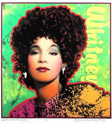 Whitney Houston Poster Beautiful New Portrait Edition Hand-Signed By David Byrd • 37.52£