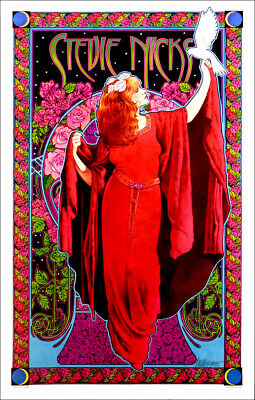 Stevie Nicks Poster White Winged Dove Bob Masse Classic Hand-Signed Silver Ink • 29.63£
