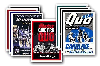 STATUS QUO  - All 9 Collectable Postcard Sets (90 Different Poster Cards) • 37£