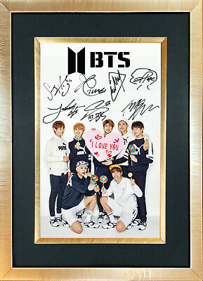 BTS #3 Boy Band Signed Reproduction Autograph Mounted Photo Print A4 761 • 6.99£