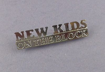 New Kids On The Block - Original Die Cut Pin Badge - Vintage Unused Stock • 5£