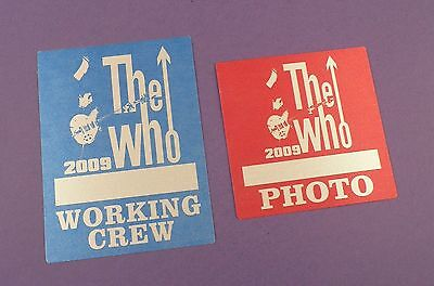 The Who - Original Backstage Passes - Tour 2009 - Unused Stock ! • 6£
