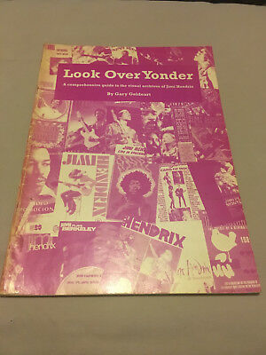 Look Over Yonder 'Visual Archives Of Jimi Hendrix' By Gary Geldeart Rare • 49.99£