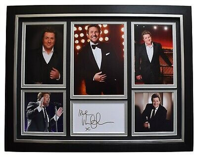Michael Ball Signed Framed Autograph 16x12 Photo Display Music Les Miserables • 124.99£