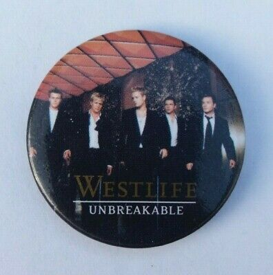 Westlife 2003 Unbreakable Concert Tour Badge / Pin • 9.95£