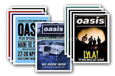 OASIS - Promotional Posters - Collection Of 10 Postcards # 1 • 5.99£