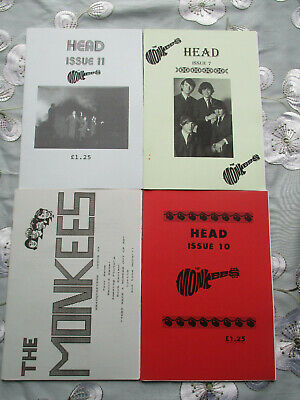 THE MONKESS HEAD & HEADQUARTERS X4 ORIGINAL 1980s - 1990s UK FANZIES • 8£