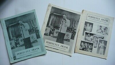 3 X Issues Of Perfectly Frank From 1961 Frank Sinatra Fanzine  • 9.99£