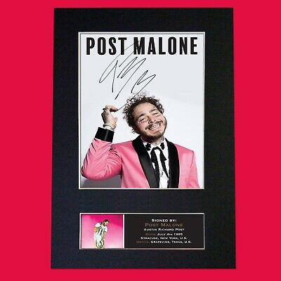 POST MALONE Signed Reproduction Autograph Mounted Photo Print A4 817 • 5.99£