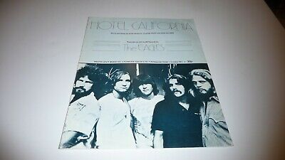 The Eagles Hotel California Original Uk  1976 Sheet Music Missing Inside Page • 19.99£
