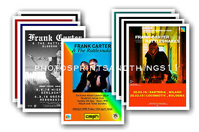 FRANK CARTER & RATTLESNAKES 10 Promotional Posters  Collectable Postcard Set # 2 • 5.99£