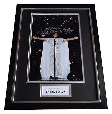 Shirley Bassey Signed Framed Photo Autograph 16x12 Display Music AFTAL & COA • 109.99£