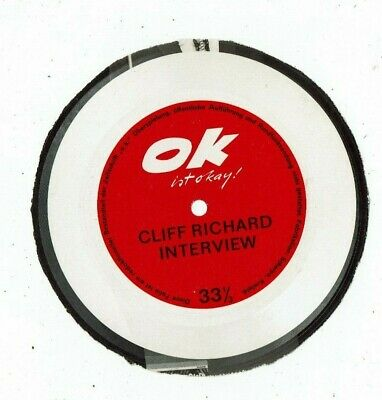 A Flexi Disc From The Ok Magazine An Interview With Cliff Richard • 49.99£