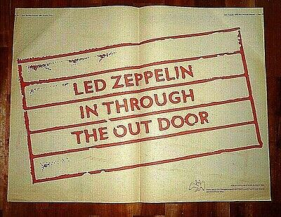 Led Zeppelin In Through Out Door Double  Page Press Advert Poster Size  37/50cm • 14.99£