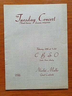 Nicolai Malko Signed CBSO Program 1956 • 40£