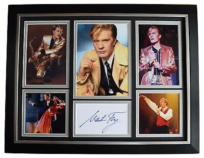 Martin Fry Signed Autograph 16x12 Framed Photo Display ABC Music Lexicon Of Love • 119.99£