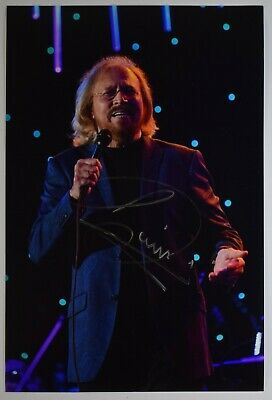 Barry Gibb Signed 12x8 Photo Autograph Signature BeeGees Music AFTAL COA • 134.99£