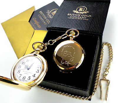BOB DYLAN Signed 24k Gold Plated Pocket Watch Autographed Luxury Gift Case • 26.99£
