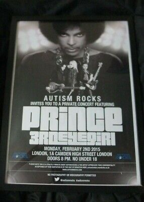 ☆ Rare Prince Hit And Run Tour 2015 - Framed Print Concert Poster  ☆ 32 X 45 Cm • 13£