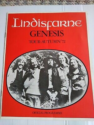 GENESIS As Support To LINDISFARNE 1972 'FOXTROT' Tour Programme Excellent Order • 89£