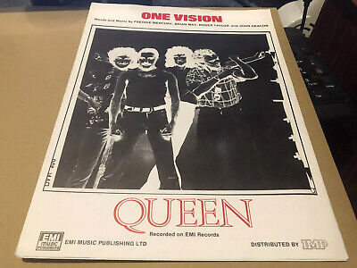 Queen One Vision Rare 1985 Original Sheet Music Very Nice Condition • 15£