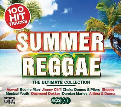 SUMMER REGGAE THE ULTIMATE COLLECTION 5 CD SET (100 Hit Tracks) (Release 2017) • 3.98£