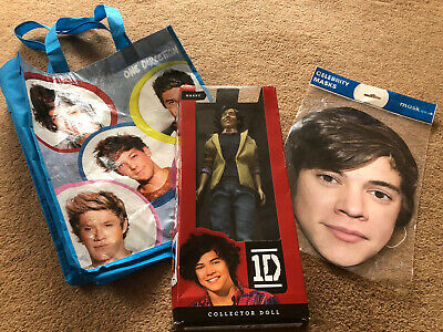 Rare Harry Styles One Direction Collectable Doll Tote Bag And Face Mask Set • 25£