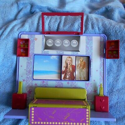 Hannah Montana DOLL 's Room Tour Stage VINTAGE 90s Furniture Miley Cyrus Toy • 22.99£
