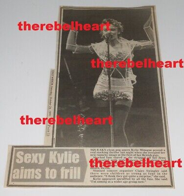 KYLIE MINOGUE 1991 UK Newspaper Press Clipping LET'S GET TO IT TOUR REPORT Photo • 7.99£