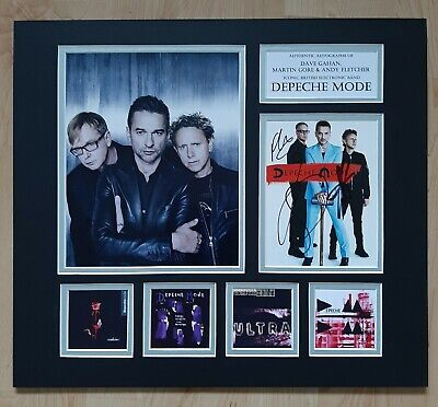 Depeche Mode - Fully Signed / Autographed Display - Singles Collection - Coa • 275£