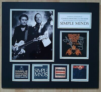 Simple Minds - Fully Signed / Autographed Display - Singles Collection - Coa • 175£