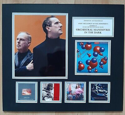 Omd - Orchestral Manouvres In The Dark -fully Signed / Autographed Display - Coa • 150£