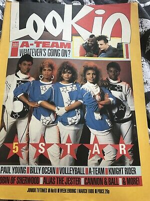 Look In Magazine # 10 1 March 1986 Used Five Star Billy Ocean • 4.99£