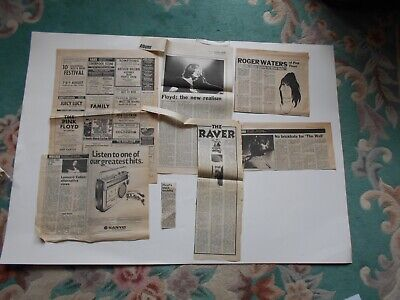 Pink Floyd Press Cuttings Including A Small Music Press Ad For The Pink Floyd • 0.50£