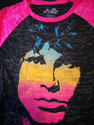 USA Rock Icon 3/4 Sleeve Size Large T-shirt - Jim Morrison The Doors Gently Used • 4.99£