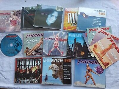 Thunder  #2  Large Original Rock Cd Single Collection  All Superb Some Promos • 20£