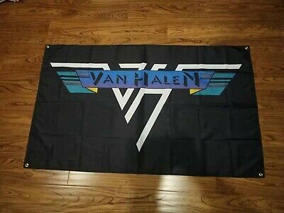 VAN HALEN 3'x5' Flag Banner USA Seller • 12.59£