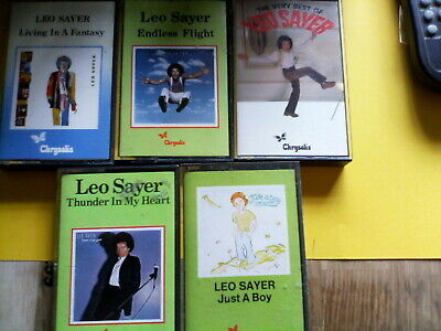 LEO SAYER   Cassettes  -  JUST A BOY ,VERY BEST OF ,THUNDER IN MY HEART ++ • 2£