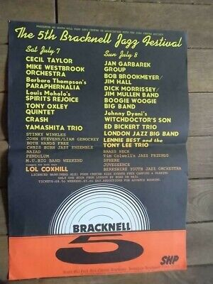 The 5th Bracknell Jazz Festival POSTER 1979 -  Jazz 1970's/80's - Music Posters • 9.99£