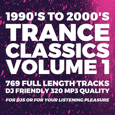 Trance Classics Vol 1 Collection 1990's-2000's - 769 DJ Friendly Tracks - USB • 19.99£