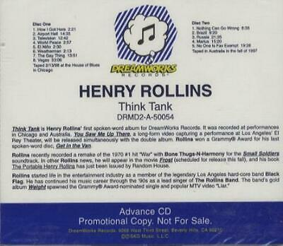 Henry Rollins Think Tank USA 2 CD Album (Double CD) Promo DRMD2-A-50054 • 16.95£
