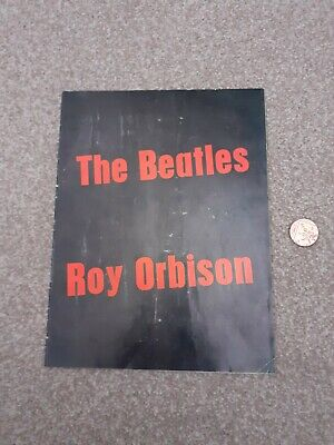 The Beatles & Roy Orbison UK Tour Programme Red Writing To Front Cover • 22.56£
