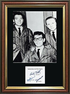 BUDDY HOLLY - Signatures - Quality Framed Photo Multi-Variation Listing STUNNING • 19.99£