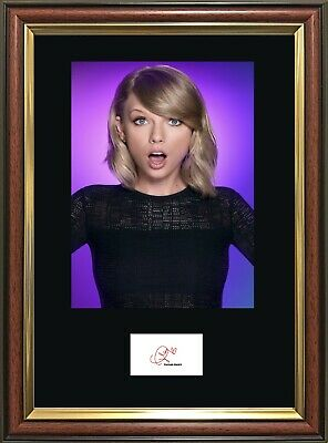 TAYLOR SWIFT Signature Quality Framed Photo - Multi-Variation Listing. STUNNING! • 19.99£